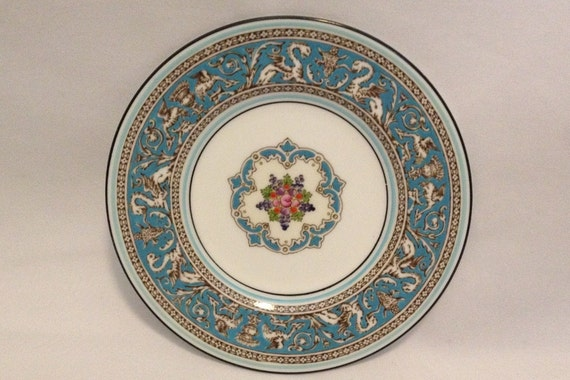 """FREE SHIPPING-Fabulous-Vintage-Wedgwood-Bone China-Florentine-Turquoise-Dragon-Made In England-6""""-W2714-Bread And Butter Plate"""