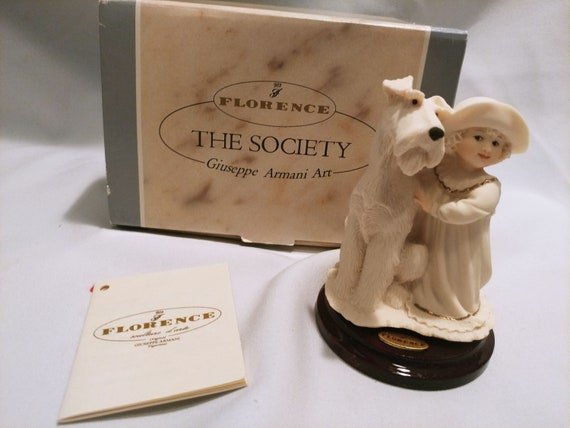 """Giuseppe Armani Florence """"The Society"""" figurines 1996 358/F Perfect Match. Girl with Dog"""