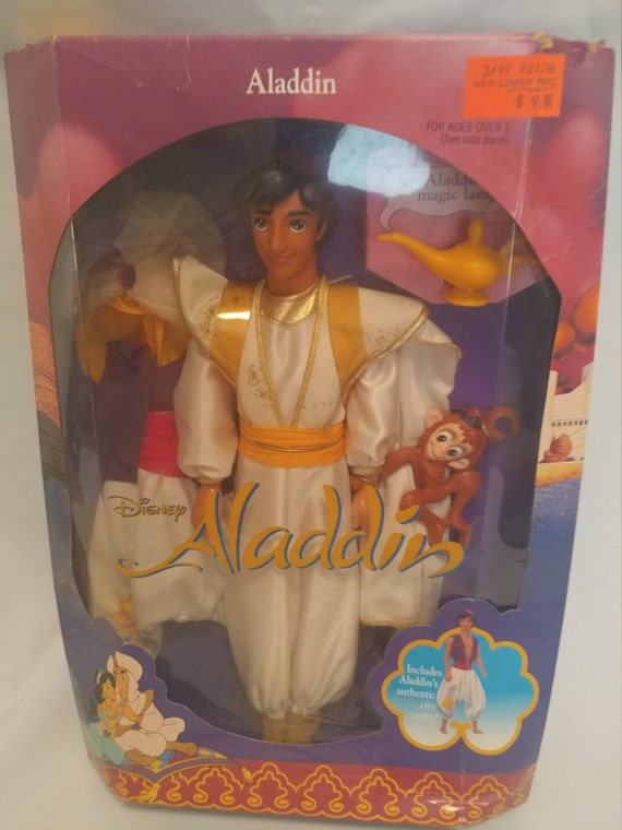FREE SHIPPING- 1992 Disney's Alladin Doll. New In Box.