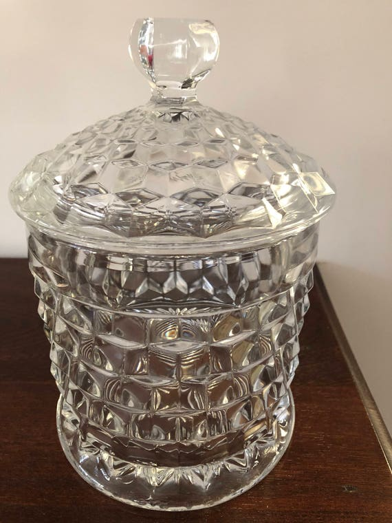 FREE SHIPPING-Elegant American Fostoria-Cookie Jar/Cracker Jar