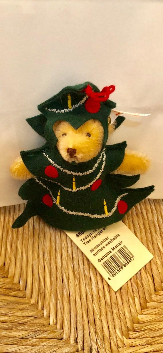 Steiff-1997-Mohair-Teddy Bear-Christmas-Tree-Ornament-With Original Tags