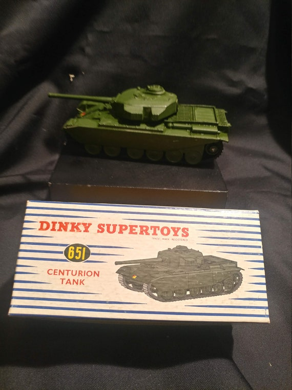 FREE SHIPPING- Vintage Dinky Supertoys Toy Car in Original Box # 651- Centurion Tank- Near Mint Condition!