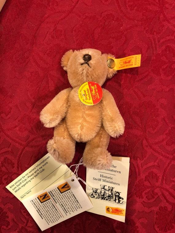 FREE SHIPPING-4 Inch-Original Steiff Teddy Bear