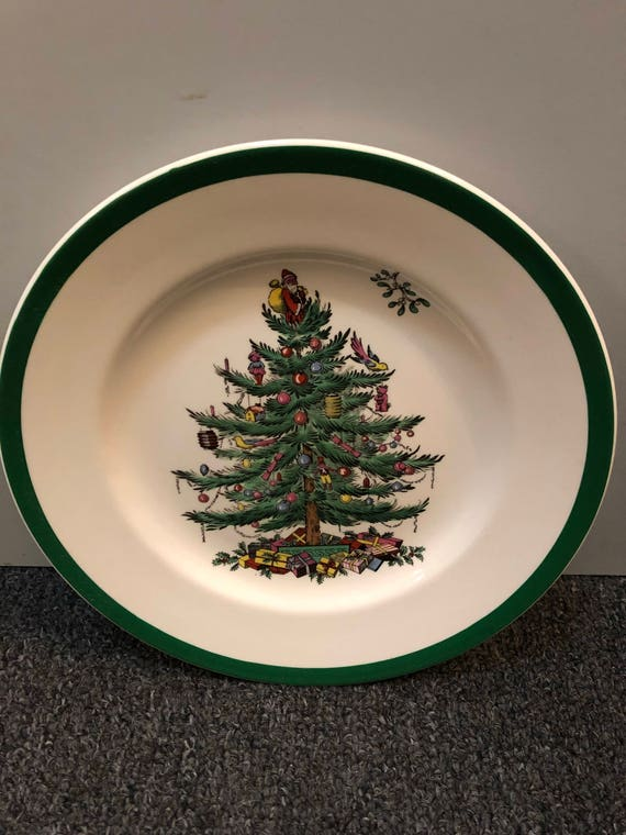 FREE SHIPPING-Spode England-Christmas Tree-7 3/4 inch-Salad/Dessert Plate