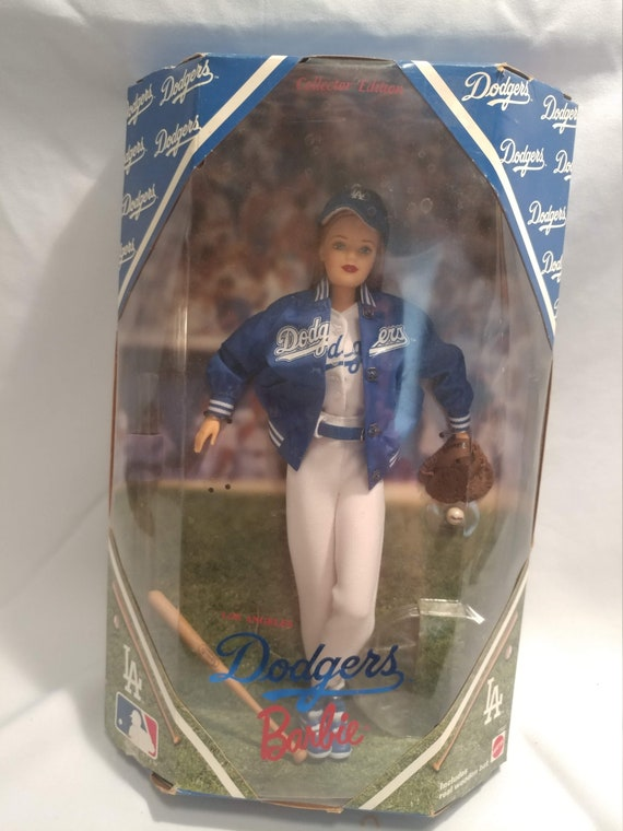 FREE SHIPPING- 1999 Los Angeles Dodgers Official MLB Baseball Barbie Doll. Collector's Edition. New in Box