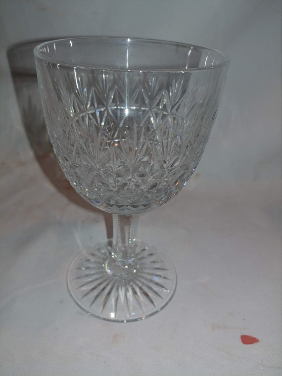 "FREE SHIPPING*- Vintage Thomas Webb English Crystal Water Goblet. Sized  6-1/8"" Tall. ""Wellington"" Pattern"