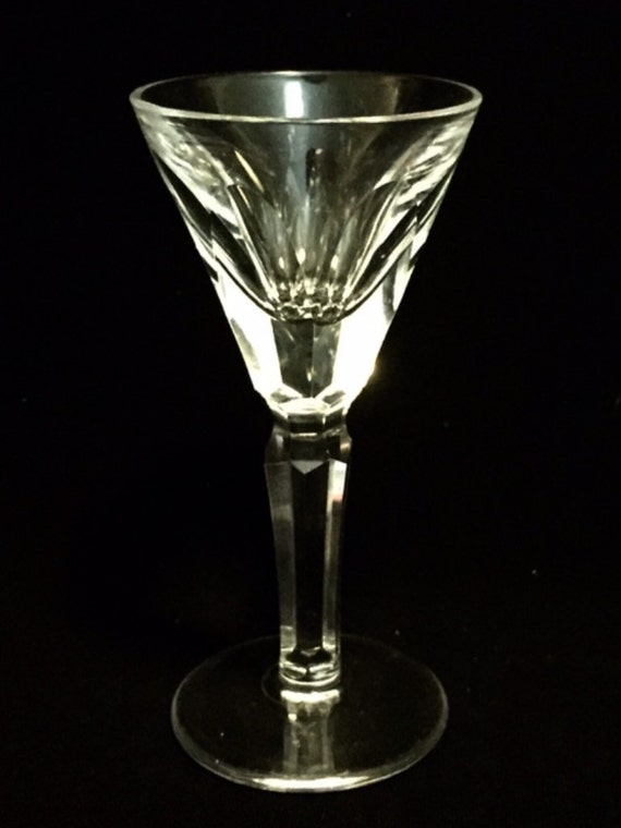 "FREE SHIPPING-Elegant-Waterford-Cut Crystal-Sheila-Cut Panels-Stemmed-3 7/8""-Liqueur Cordial Glass-Old Hallmark"