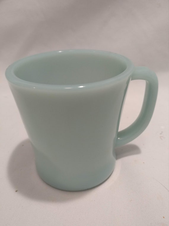 "Vintage Turquoise/Aqua Blue Fire King Oven Safe Mug. Great Condition! Hard to Find Color! 3-1/4"" Diameter x 3-1/2"" Tall"