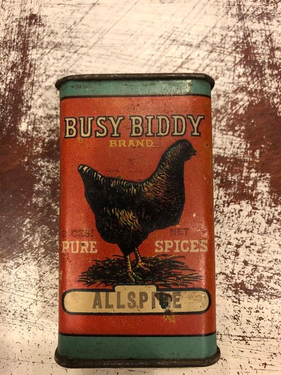 FREE SHIPPING- Busy Biddy-Allspice Tin