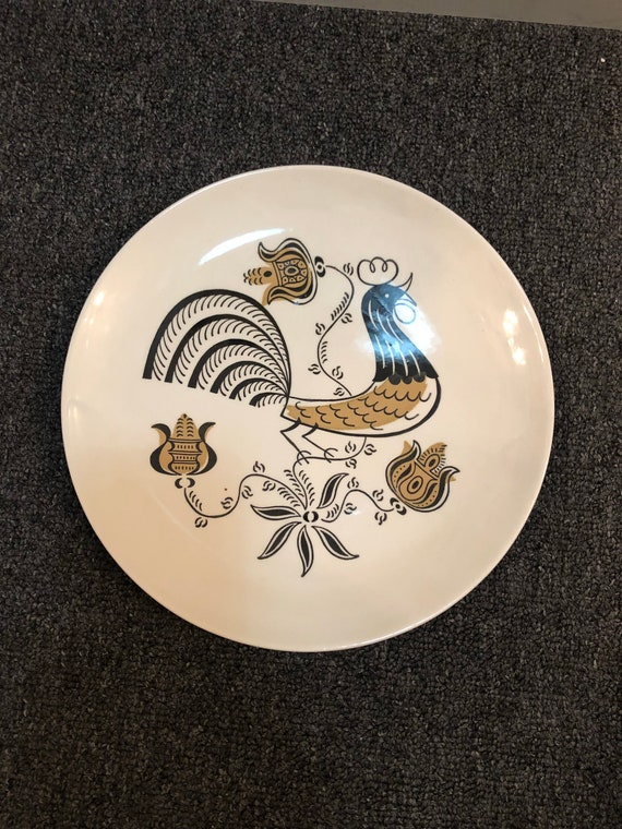 FREE SHIPPING-Good Morning Rooster-plate