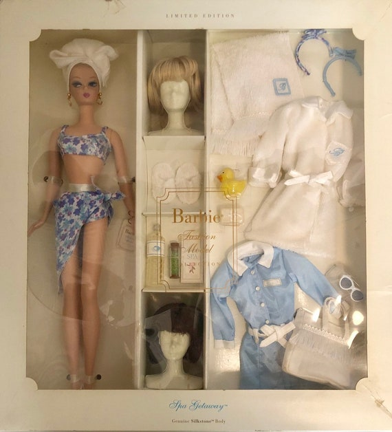 New In Box-Limited Edition-Spa Getaway-Silkstone-Barbie-Fashion Model Collection-Doll