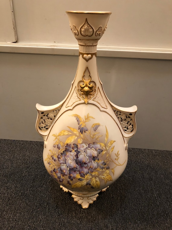 FREE SHIPPING-Royal Worchester-Hand Painted-Antique Vase