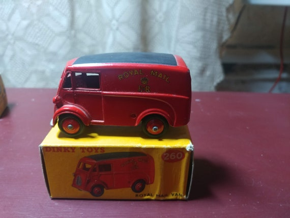 FREE SHIPPING- Vintage Dinky Toys by Meccano. Near Mint Condition in Original Box- #260- Red Royal Mail Van