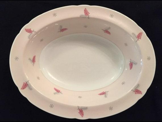 "FREE SHIPPING-Very Rare-Fabulous-Pink-Mid Century-Shelley-Pattern Lyric-Made England-Fine Bone China-9 1/2""-Serving Vegetable Dish"