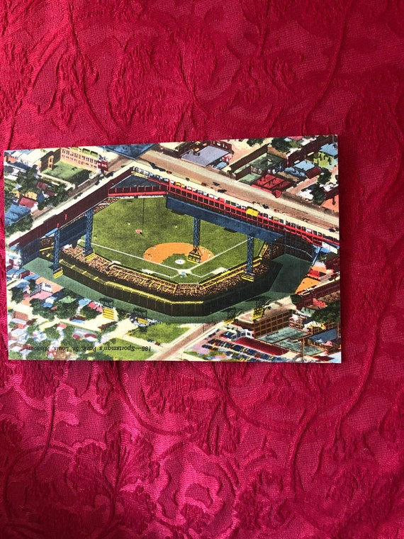 FREE SHIPPING-Sportsmans Park-Saint Louis-Post Card