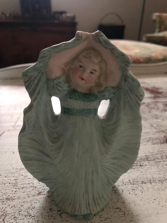 FREE SHIPPING-Heubach German Figurine-Antique Little Girl