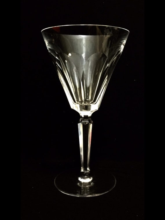 "FREE SHIPPING-Elegant-Waterford-Cut Crystal-Sheila-Cut Panels-Stemmed-7""-Water Goblet-Old Hallmark"