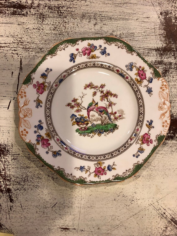 FREE SHIPPING-English-Spode Copelands-Eden-9 1/4inch-Cookie/Cake Plate