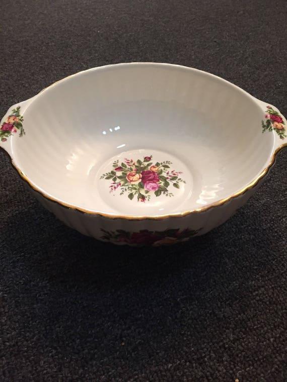 FREE SHIPPING-Royal Albert-Old Country Roses-English-Serving Bowl