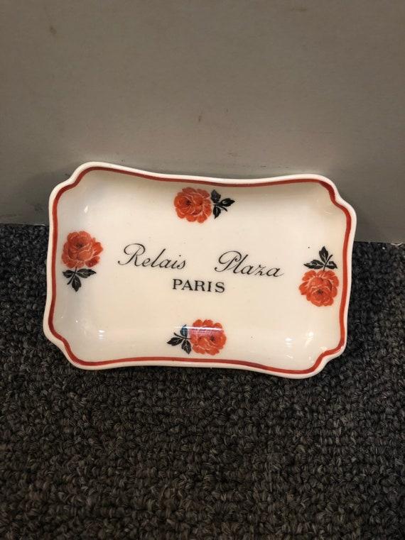 FREE SHIPPING-Relais Plaza Paris-Theodore Haviland Limoges France-Pin Dish/Ashtray