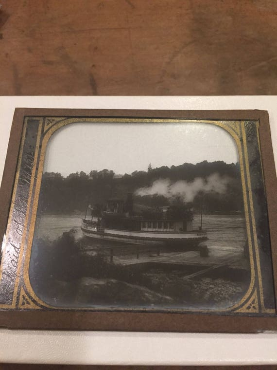 FREE SHIPPING - Set Of Twelve- Antique - Magic Lantern Glass Slides - Niagara Falls