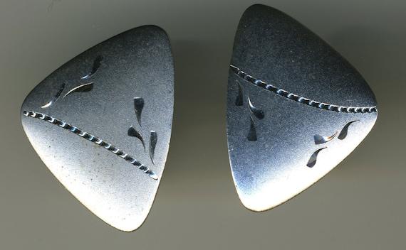 Vintage-Sterling Silver-Hallmarked-By JML-MOD design-Cuff Links-Cufflinks