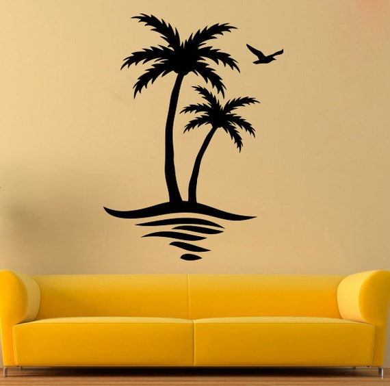 Palm Wall Decal Palm Tree Vinyl Sticker Tree Stickers Wall | Etsy