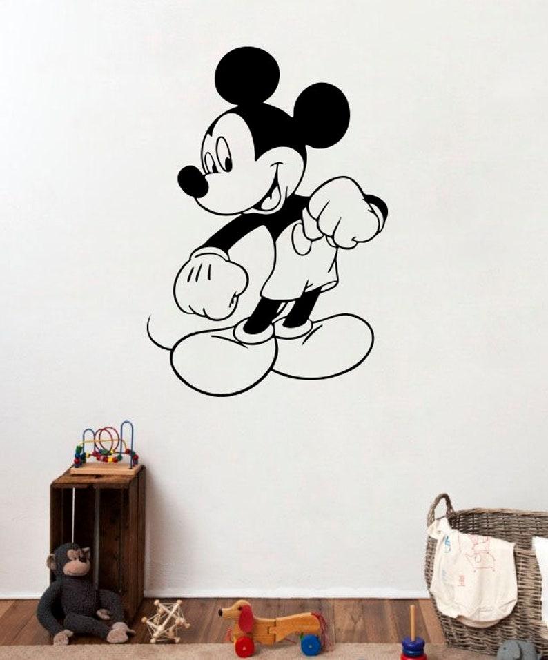 . Children s Roommates Design Mickey Mouse Wall Sticker Cartoon Decal  Disneyland Hero Fans Mural Kindergarten Decorative Art Pattern  7adg