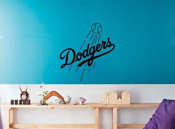 Los Angeles Dodgers Team Vinyl Wall Stencil Sporting Baseball Etsy