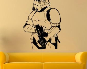 Stormtrooper Vinyl Sticker Star Wars Wall Decal Comics Vinyl Decals Wall Vinyl Decor /11qet/