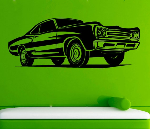 Muscle Car Wall Decal Car Vinyl Sticker Cars Decals Wall Vinyl Etsy
