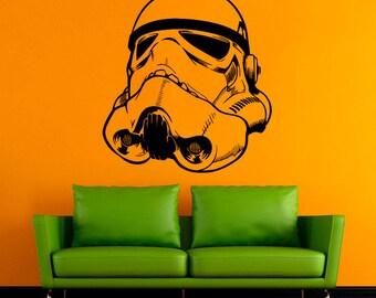 Stormtrooper Wall Decal Star Wars Vinyl Sticker Comics Wall Decals Wall Vinyl Decor /3qet/