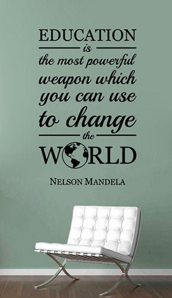 education nelson mandela quote wall decal study inspirational