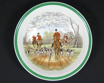 Copeland Family Homeward Plate Vintage Horse Dish Vintage Horse Bowl Old English Fox Hunting Dish English Design