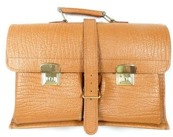 Vintage Leather School Bag Messenger Bag Office Bag Unisex Brown Bag Shoulder Bag Book Bag Schoolbag