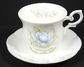 Royal Canterbury Blue Satsuma Cup And Saucer Vintage Royal Canterbury China High Tea Set Tea Party Tea Cup Set English Design