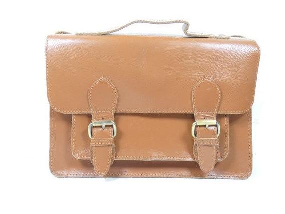 Vintage Leather School Bag Messenger Bag Office Ba