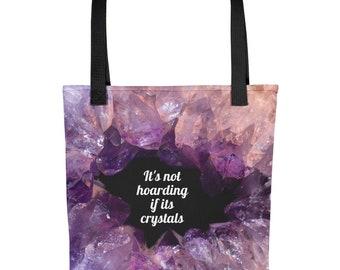 Amethyst Crystal Tote Bag