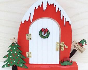 Elf fairy door - magical door - Christmas door - Believe