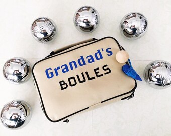 Boules, Bocce, Yard Bowl Personalised Boules set gift for him - gift for her - game set - outdoors