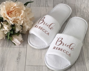 95ab78c69a3 Personalised wedding slippers