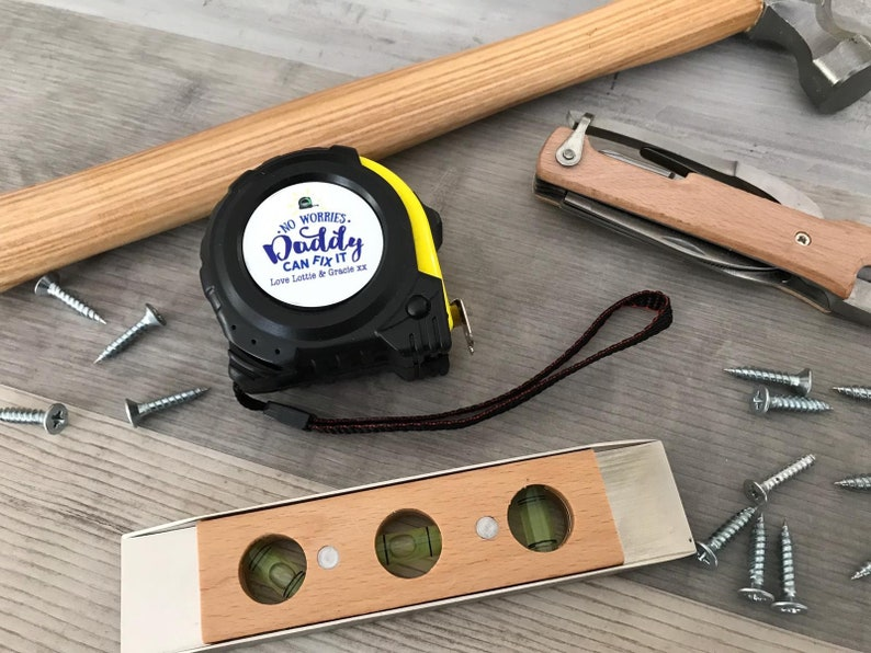 Personalised Tape Measure Fathers Day Gift Diy Gift Etsy