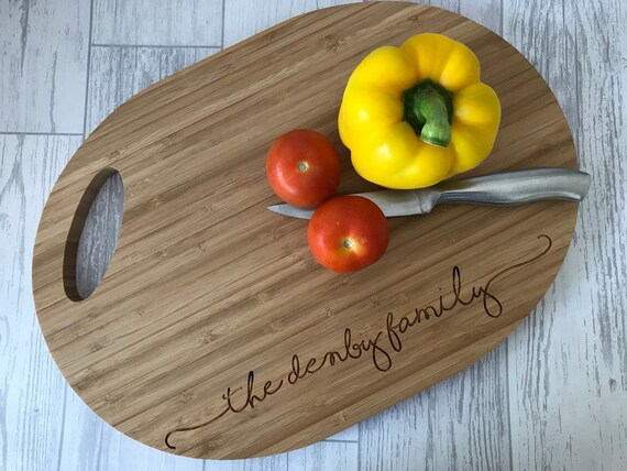 Personalised Engraved Mezzaluna set //Chopping Board Weddings New home Gift