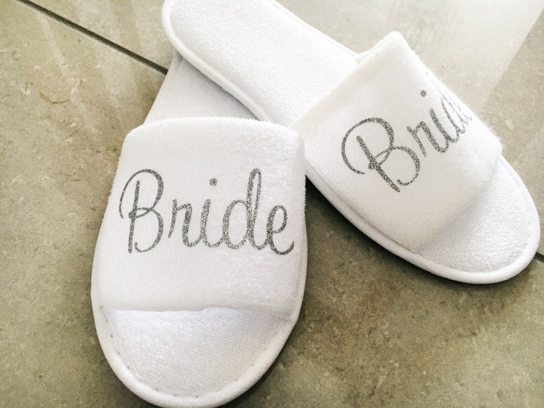ccb98193f Personalised wedding slippers bridal slippers terry towel