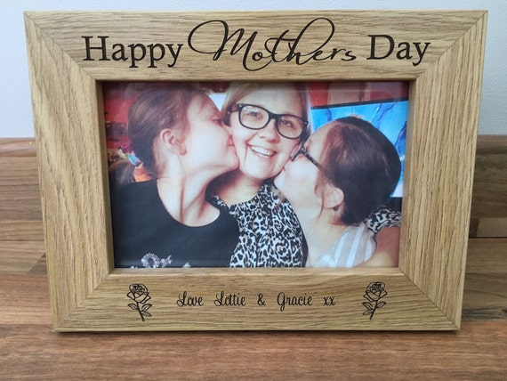 Mothers Day Engraved Picture Frame Size 6x4 Etsy