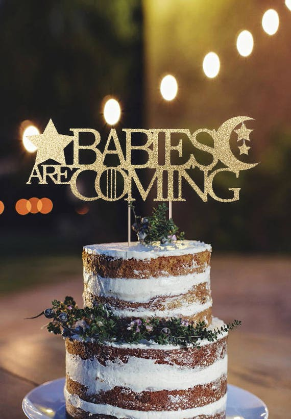 Moon And Stars Baby Shower Twinkle Twinkle Little Star Cake Etsy