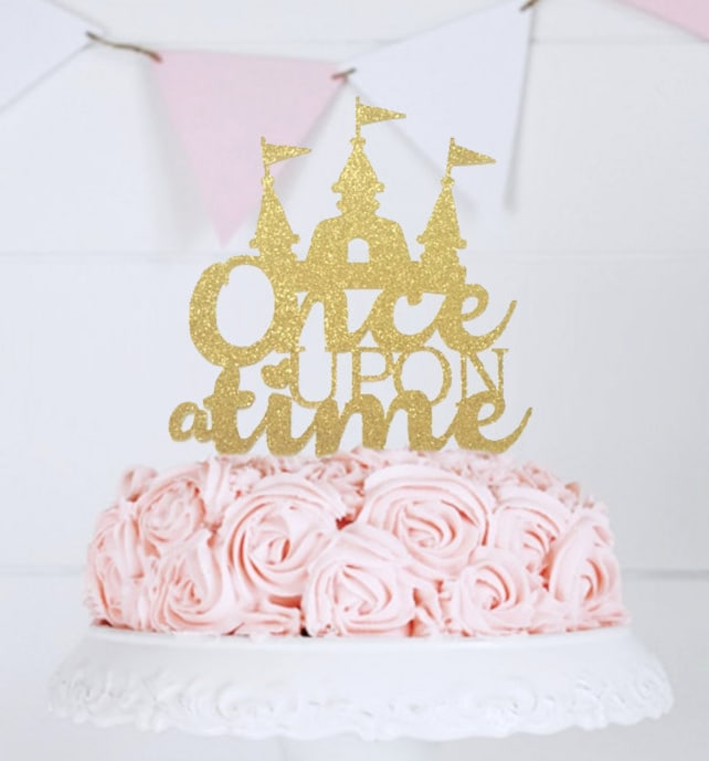 Once Upon a Time Cake Topper Fairy Tale Wedding Theme First | Etsy