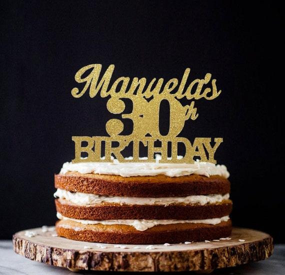 30th Birthday Cake Topper Custom Name