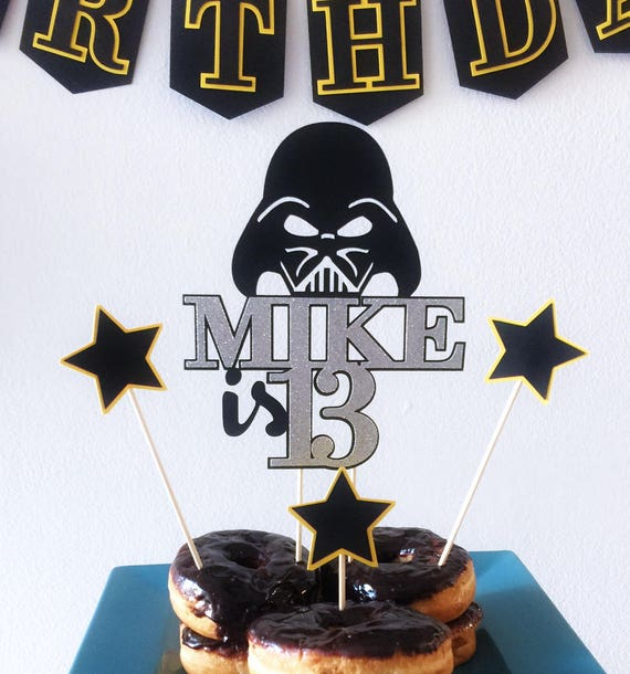 Darth Vader Cake Topper Custom Name Star Wars Toppers