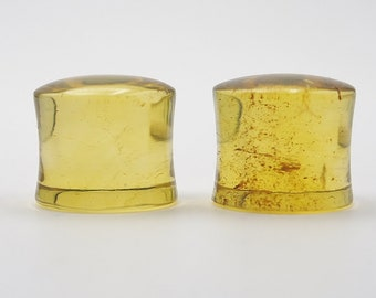 Natural Mexican Amber Ear Plugs 13mm Saddle